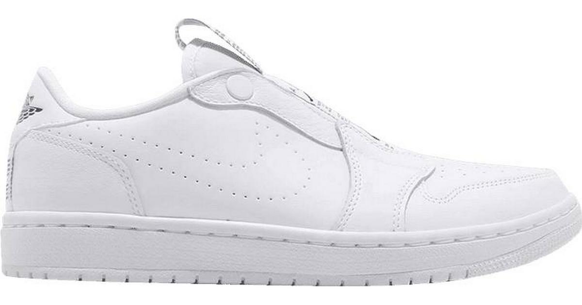 0e343dfc44f Nike Air Jordan 1 Retro Low Slip - White/Black - Sammenlign priser hos  PriceRunner
