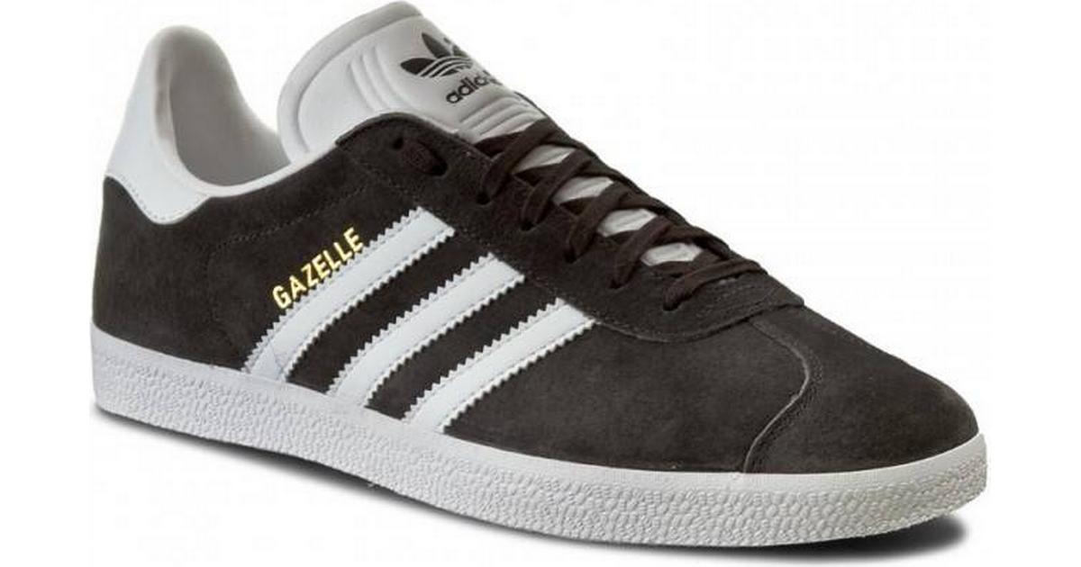 7c9d5081 Adidas Gazelle M - Dark Grey Heather/White/Gold Metallic - Sammenlign  priser hos PriceRunner