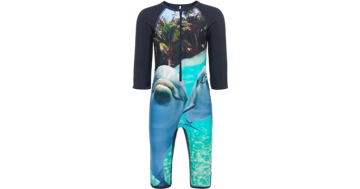 59f2227ea95 Name It Mini 50+ UV Protective Swimsuit - Blue/Dark Sapphire (13163089) - Sammenlign  priser hos PriceRunner