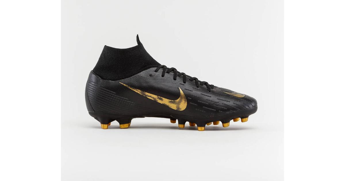sports shoes b2cc4 ef195 Nike Mercurial Superfly VI Pro AG-PRO M - Black/Metallic Vivid Gold -  Sammenlign priser hos PriceRunner