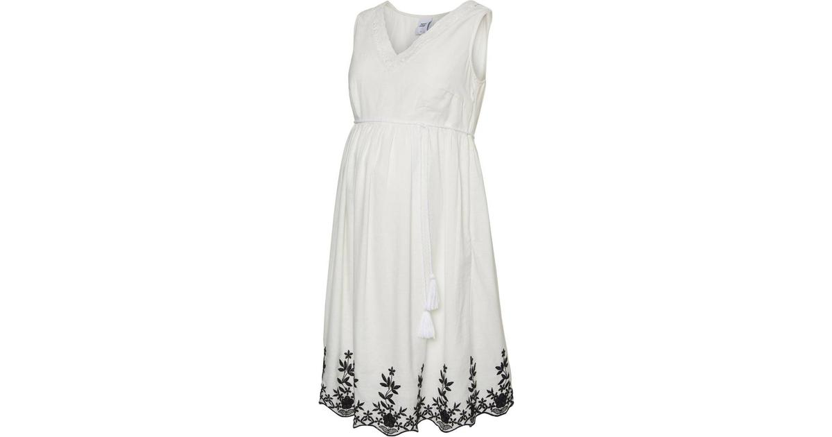 1289c96cf75f Mama.licious Woven Maternity Dress White/Snow White (20009825) - Hitta  bästa pris, recensioner och produktinfo - PriceRunner
