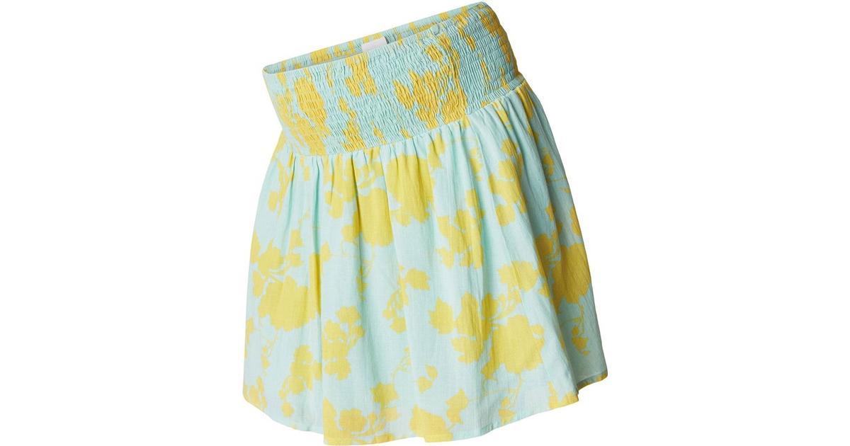 5e17c6efcba71 Mama.licious Woven Smock Maternity Skirt Blue/Eggshell Blue (20009954) -  Sammenlign priser hos PriceRunner