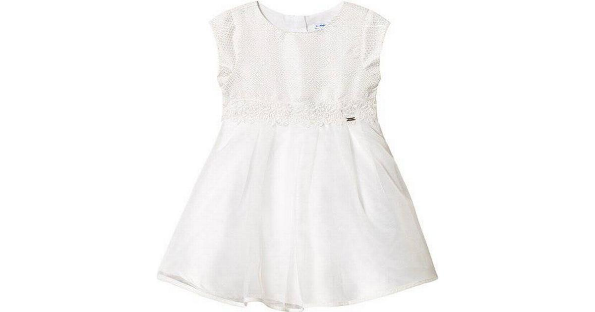 2046e5fe99d Mayoral Party Dress for Mini Girl - Off White (29-03911-091) - Sammenlign  priser hos PriceRunner