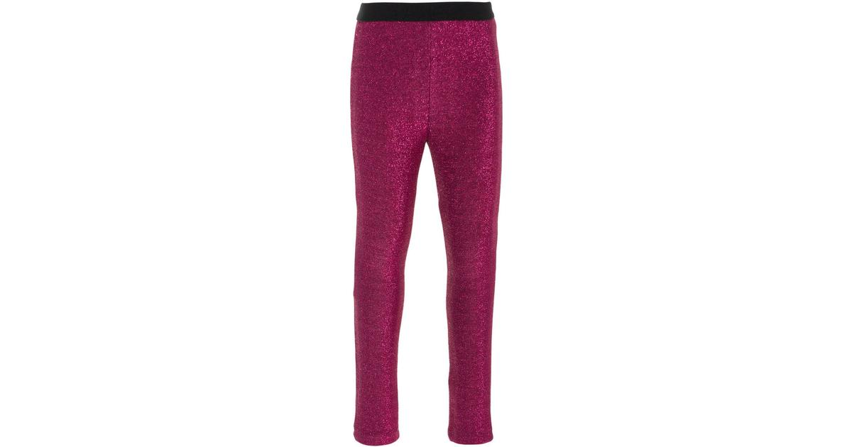 6db6a9938ef Name It Mini Glittery Leggings - Pink/Knockout Pink (13160533) - Sammenlign  priser hos PriceRunner