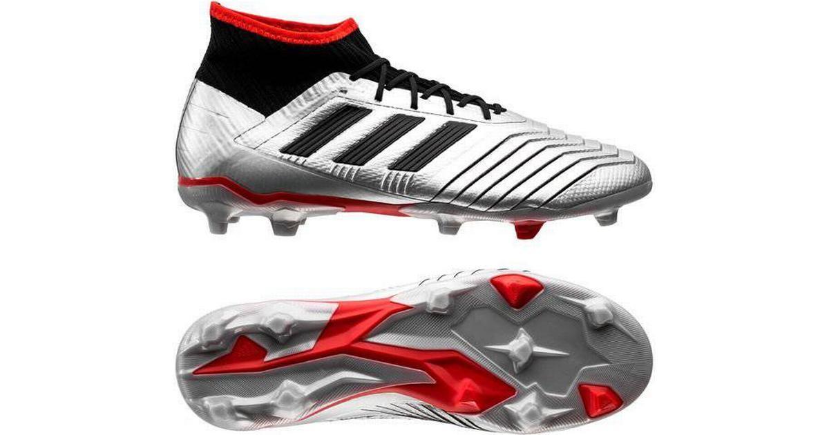 e5e640491 Adidas Predator 19.2 FG M - Silver Met/Core Black/Hi-Res Red - Sammenlign  priser hos PriceRunner