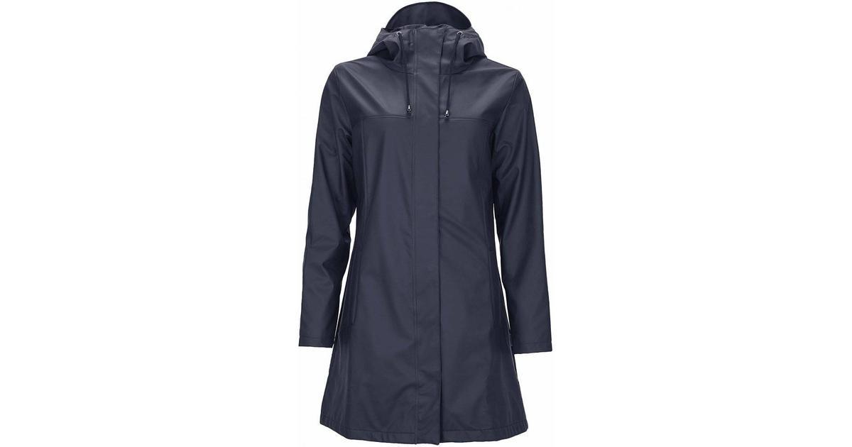 2cf892c3 Rains Firn Jacket - Blue - Sammenlign priser hos PriceRunner