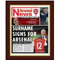 Arsenal Personalised Arsenal FC Magazine Cover Print - Special Frame