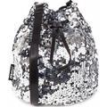 Silver Sequin Bucket Bag