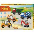 Hama Midi Beads Construction Vehicles Large Gift Set 3143