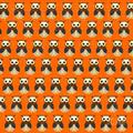 TapetStore Retro ugglor orange
