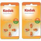 Kodak 8st Batterier till hörapparat 13 A13 AC13 ZA13 (orange) Kodak
