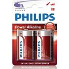 Philips Power Life Batteri Alkaline 2st D/LR20