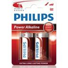 Philips Power Life Batteri Alkaline 2st C/LR14