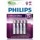Philips Ultra Batteri Lithium 4st AAA/LR03