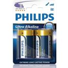 Philips ExtremeLife+ Ultra Batteri Alkaline 2st D/LR20