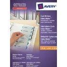 AVERY - 1640061 - 1 jeu intercalaires blancs carte perforées personnalisables IndexMaker sommaire et touches personnalisables A4 Impression laser/ jet d'encre