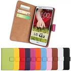 Mini in the Box Genuine Leather Full Body Case with Stand and Card Slot for LG G2 (Assorted Colors)