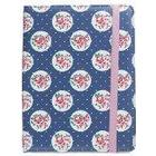 Trendz Patterned Protective Universal Folio Case Cover with Built-In Stand and Closing Strap for 6-8 inch Tablets Compatible with iPad Mini, Google Nexus 7, Samsung Galaxy Tab 2/3/4 and Kindle Fire HD/HDX 7.0 - Floral Blue