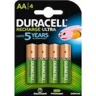 Batteri ladd Duracell AA  4/fp