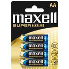 MAXELL 774409 MAXELL Super Alkaline Battery AA (LR-6XL) 4-pack Blister