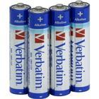 4-Pack AAA Verbatim Högkvalitétsbatterier