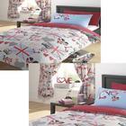 Princess Love Union Jack Single Bedding Set With Matching Curtains