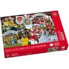 """Paul Lamond Games """"Arsenal 2014-15 Double FA Cup Winners"""" Puzzle (500-Piece)"""
