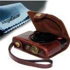 MegaGear Leder Kameratasche für Panasonic LF1 Objektiv Digital Kamera (Dunkelbraun)