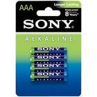 Sony Alkaline BLUE AM4L-B4D - batteri - AAA -
