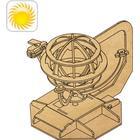 Sol Drevet SCI FI Globe i træ