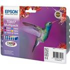 Epson C13T08074011 (T0807) Ink cartridge multi pack, 220 pages,...