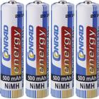 Conrad energy Laddbart batteri R03 (AAA) NiMH Conrad energy HR03 500 mAh 1.2 V 4 st