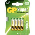 Alkaliska batteri AAA GP Super LR3 Alkaliskt 4-pack