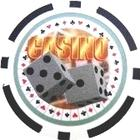 Casino Dice Svart (25-pack)