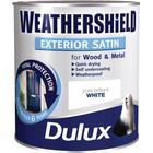 Weathershield Exterior Satin Pure Brilliant White 750ml / 2.5L