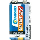 Conrad energy Laddbart batteri 9 V LiIon Conrad energy 6LR61 350 mAh 7.2 V 1 st