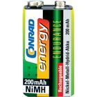 Conrad energy Laddbart batteri 9 V NiMH Conrad energy Endurance 6LR61 200 mAh 8.4 V 1 st