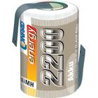Conrad energy RC Batteri-cell Conrad energy NiMH 4/5 Sub-C 1.2 V 2200 mAh med lödstift