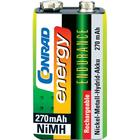 Conrad energy Laddbart batteri 9 V NiMH Conrad energy Endurance 6LR61 270 mAh 8.4 V 1 st