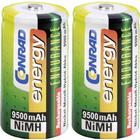 Conrad energy Laddbart batteri R20 (D) NiMH Conrad energy Endurance HR20 9500 mAh 1.2 V 2 st