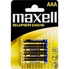 Maxell AAA LR03 superalkaliska batterier 4-pack