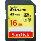 SanDisk Extreme SDHC 45MB/s 16GB