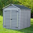 Sheds.co.uk 6' x 8' Palram Skylight Plastic Grey Shed