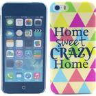 TPU-skal till iPhone 5/5S, Home Sweet Crazy Home