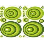 Stickers 47x68 Selvklæb. Green Ovals