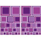 Stickers 47x68 Selvklæb. Purple Squares