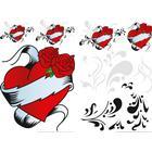 Stickers 22x33 Selvklæb. Tattoo Heart