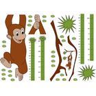 Stickers 47x68 Selvklæb. Målebånd: Monkey