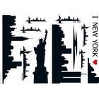 Stickers 47x68 Selvklæb. New York Skyline