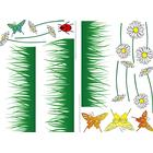 Stickers 22x33 Selvklæb. Butterflies Meadow